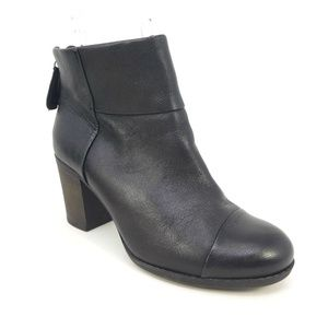 Clarks Black Leather Enfield Tess Ankle Boots